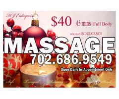 Holiday Massage Special